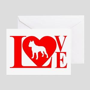 PIT BULL LOVE Greeting Card
