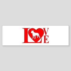 PIT BULL LOVE Sticker (Bumper)