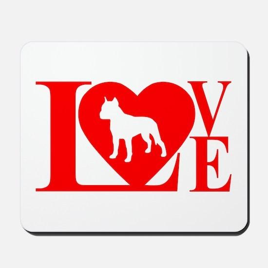 PIT BULL LOVE Mousepad