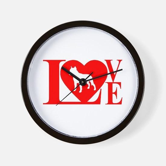 PIT BULL LOVE Wall Clock