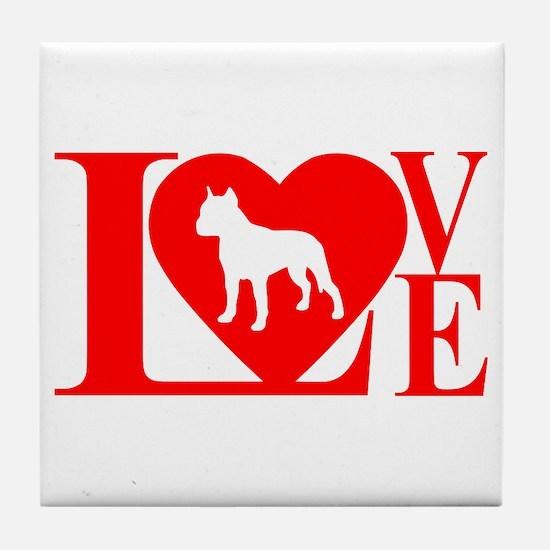 PIT BULL LOVE Tile Coaster
