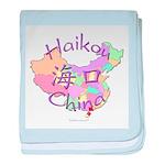 Haikou China Map baby blanket