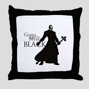 Good Guys Wear Black Throw Pillow