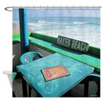 Naked Beach Cozumel Seashore Shower Curtain