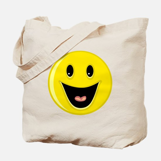 Laughing Smiley Face Tote Bag