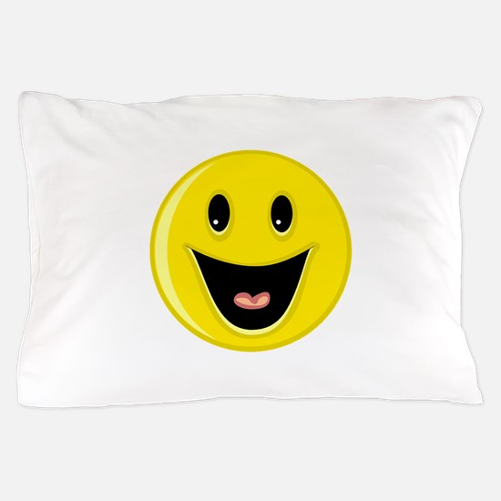 Laughing Smiley Face Pillow Case