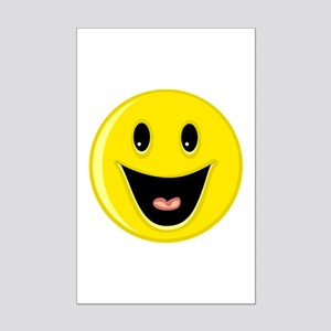Laughing Smiley Face Mini Poster Print