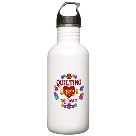Quilting Happy Stainless Water Bottle 1.0L