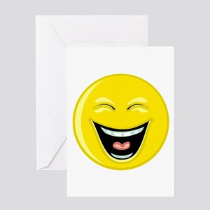 Laughing Smiley Face Greeting Card