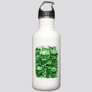 skulls dark ink green shade Stainless Water Bottle