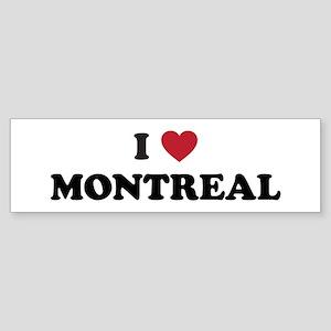 I Love Montreal Sticker (Bumper)