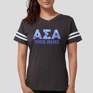 Alpha Sigma Alpha Floral Womens Football Shirt