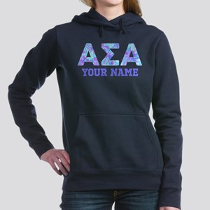 Alpha Sigma Alpha Floral Women's Hooded Sweatshirt