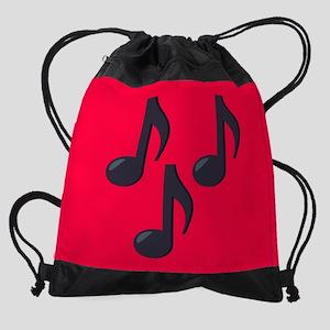Music Notes Emoji Drawstring Bag