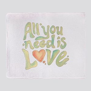 All you need Throw Blanket