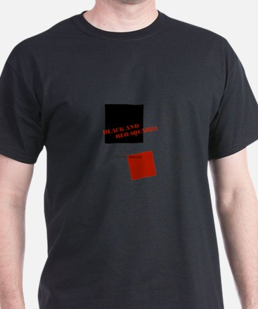 Black And Red Squares by Kazimir Malevich T-Shirt