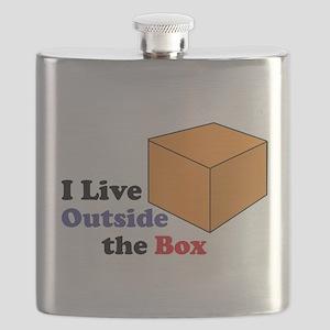 I Live Outside the Box Flask