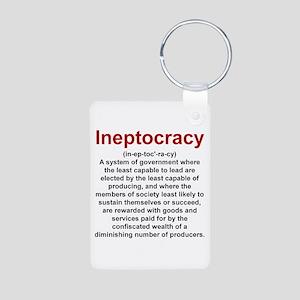 Ineptocracy Aluminum Photo Keychain
