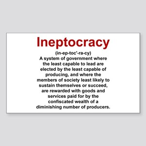 Ineptocracy Sticker