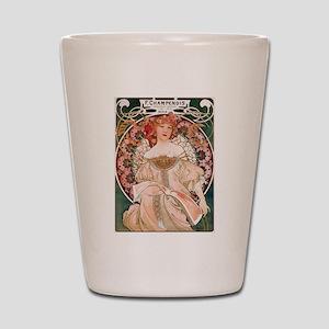 Alphonse Mucha Reverie Shot Glass