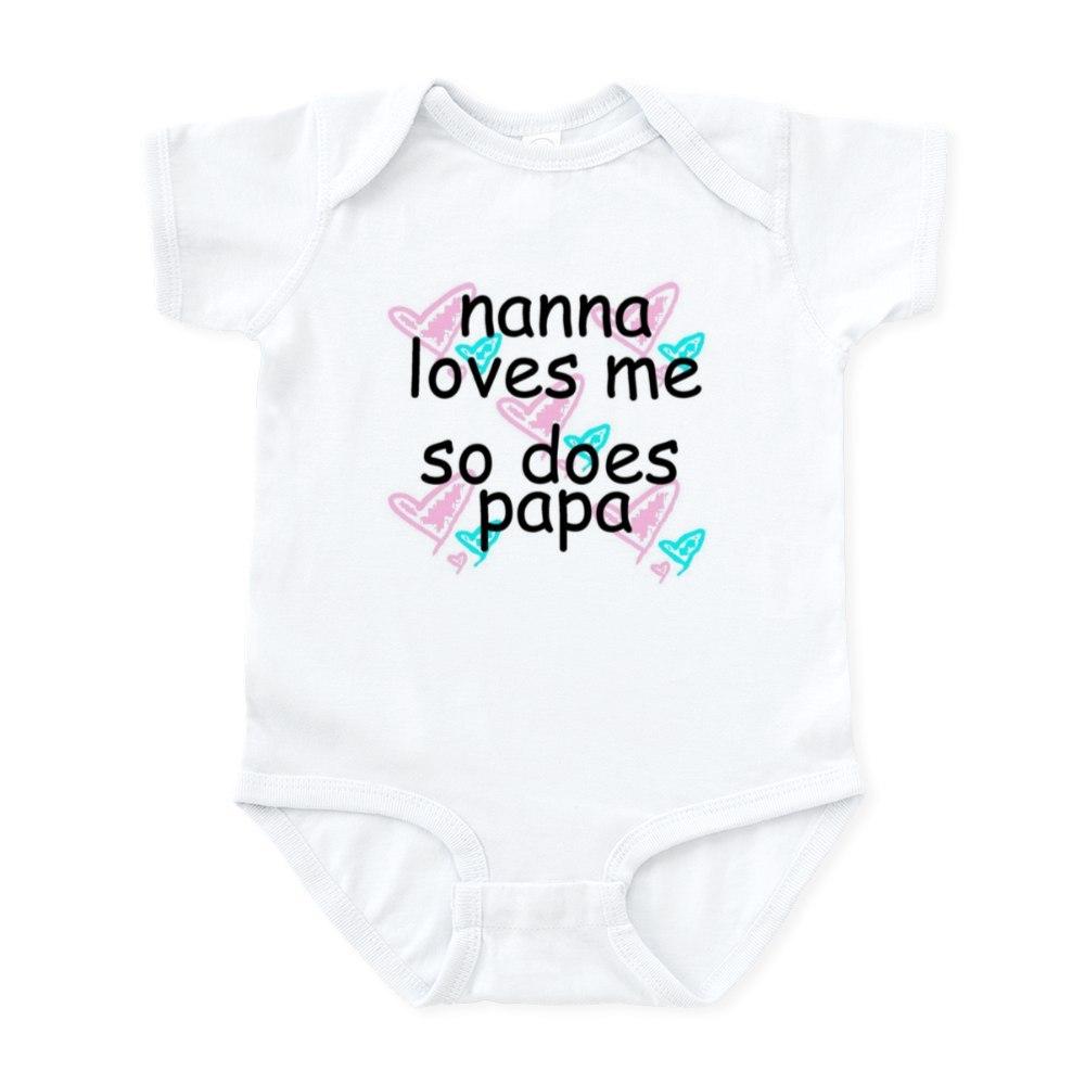 CafePress-Nana-Loves-Me-So-Does-Papa-Infant-Creeper-Baby-Bodysuit-67107622 thumbnail 4