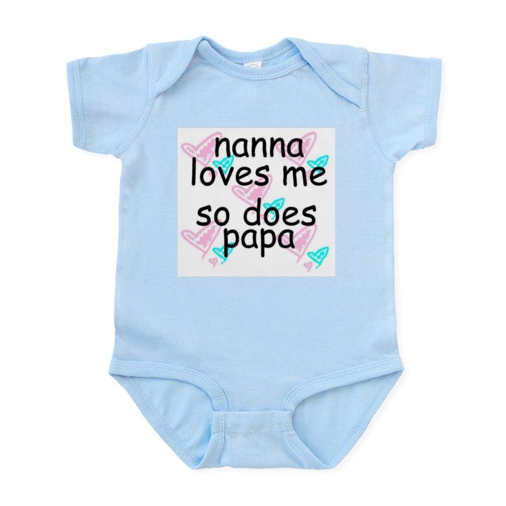CafePress-Nana-Loves-Me-So-Does-Papa-Infant-Creeper-Baby-Bodysuit-67107622 thumbnail 8