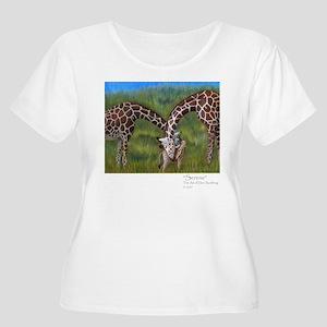 Giraffe Family 10x10 Plus Size T-Shirt