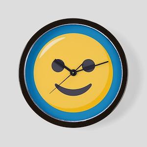 Smiley Face Emoji Wall Clock