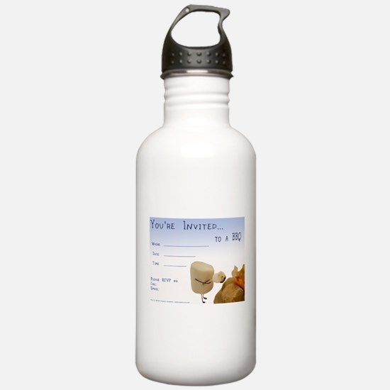 BBQ - Party Invitation Sports Water Bottle