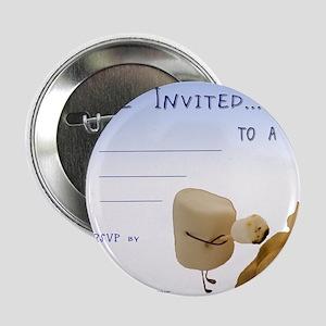 """BBQ - Party Invitation 2.25"""" Button"""