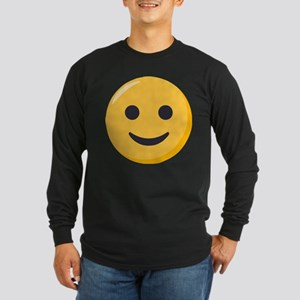 Smiley Face Emoji Long Sleeve Dark T-Shirt