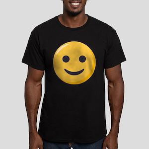 Smiley Face Emoji Men's Fitted T-Shirt (dark)
