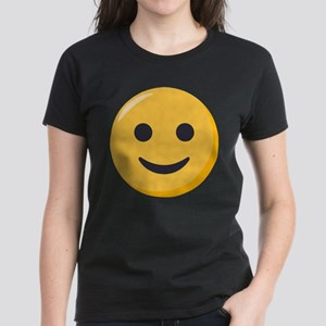 Smiley Face Emoji Women's Dark T-Shirt
