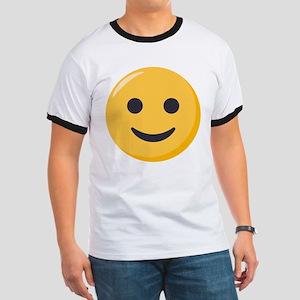 Smiley Face Emoji Ringer T