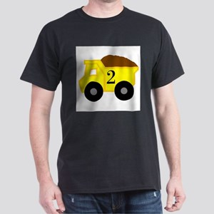 Second Birthday Dump Truck Dark T-Shirt