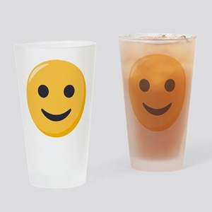 Smiley Face Emoji Drinking Glass