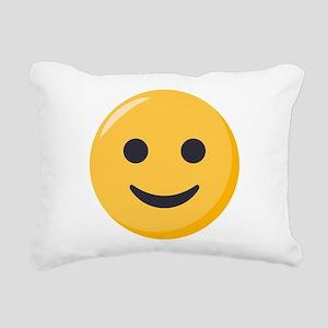 Smiley Face Emoji Rectangular Canvas Pillow