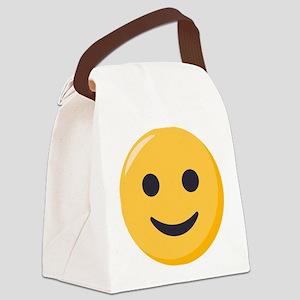 Smiley Face Emoji Canvas Lunch Bag