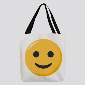 Smiley Face Emoji Polyester Tote Bag
