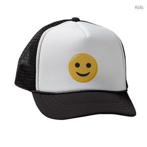 9b6a2dc51cfaa Smile Face Kids Trucker Hats - CafePress
