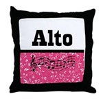 Alto Singer Choir Throw Pillow