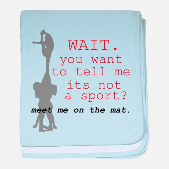 Meet Me on the Mat. baby blanket