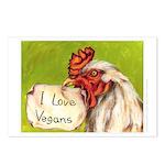 """""""I Love Vegans!"""" Postcards (Package of 8"""