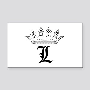 Crown L Rectangle Car Magnet