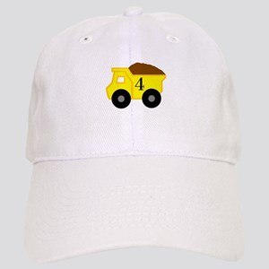 Fourth Birthday Dump Truck Cap