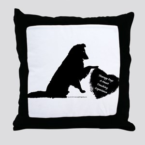 Therapy Heart Black Throw Pillow