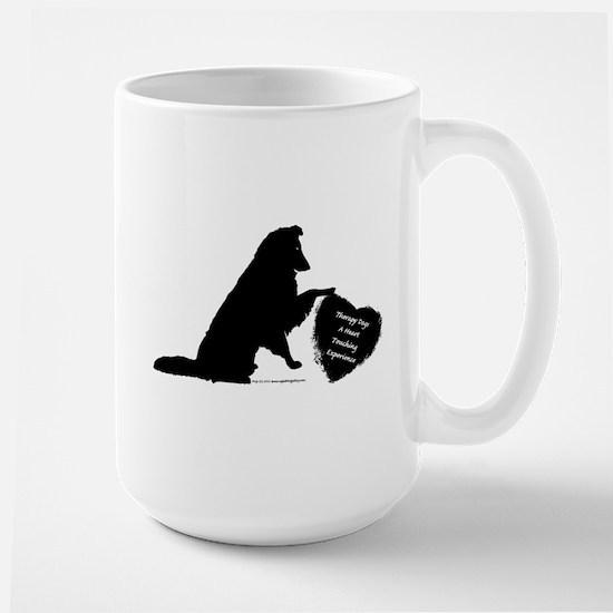 Therapy Heart Black Large Mug