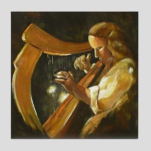 Irish Harp Tile Coaster