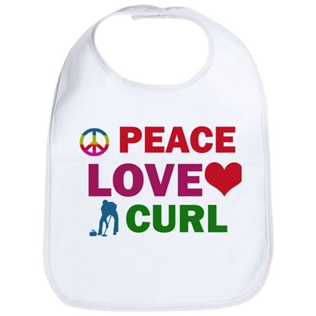 Peace Love Curl Designs Bib