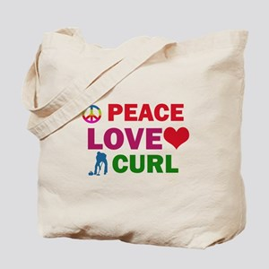 Peace Love Curl Designs Tote Bag